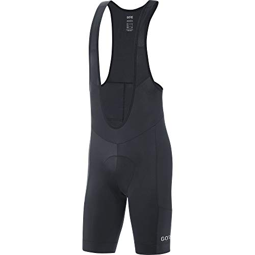 GORE Wear C5 Men's Short Cycling Bib Shorts With Seat Insert, L, Black