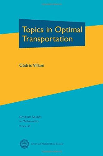 Topics in Optimal Transportation (Graduate Studies in Mathematics, Vol. 58)