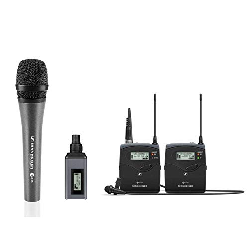 (Sennheiser EW100 ENG G4-A Wireless System with EK 100 G4 Diversity Receiver, Frequency Band A with a Sennheiser E-835 Microphone)