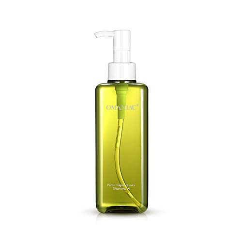 OMANIAC Forest Nuts Deep Cleansing Oil, 6.76 fl.oz, Natural Oil Cleanser, Makeup Remover, Dissolves Mascara, Lipstick…