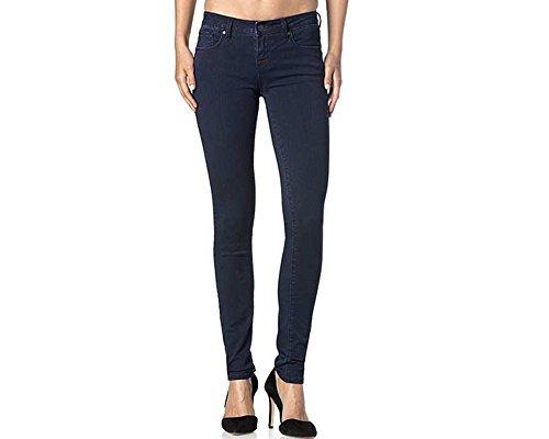 Miss Me Junior's Clean Super Skinny Jegging Jean, Dark Blue, 27 ()
