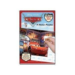 Lee Publications Disney Pixar Cars Sticker Puzzles - Set 2 (Frozen Sticker By Number)