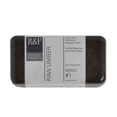 R&F Encaustic 40ml Paint, Raw Umber (Umber Wax)