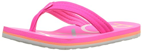 Roxy RG Vista Flip Flop Sandals Flat (Little Kid/Big Kid), Hot Pink, 1 M US Big Kid (1 Flip Flops)