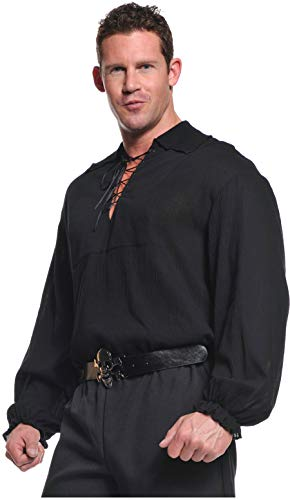 (Pirate Shirt (Black) Adult Accessory Size 48