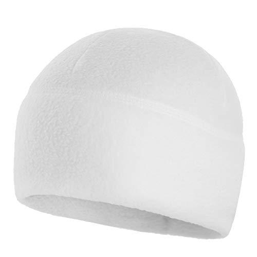 M-Tac Watch Cap Fleece 260 Slimtex Mens Winter Hat Military Tactical Skull Cap Beanie (Large, White)