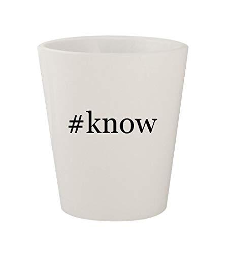 #know - Ceramic White Hashtag 1.5oz Shot Glass