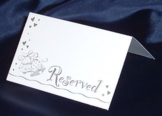 wedding table reserved place cards 20 piecs wedding party - Table Place Cards
