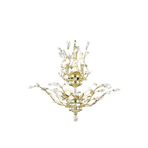 Brilliance Lighting and Chandeliers Floral Orchid Collection 8 Light Gold Finish Crystal Flower Chandelier 21