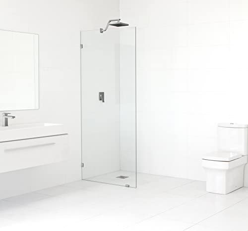 Glass Warehouse 78 x 27.5 Frameless Shower Door – Single Fixed Panel