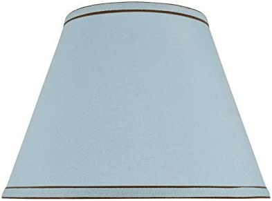 Aspen Creative 32183 Transitional Hardback Empire Shape Spider Construction Lamp Shade in Light Blue, 13 wide 7 x 13 x 9 1 2