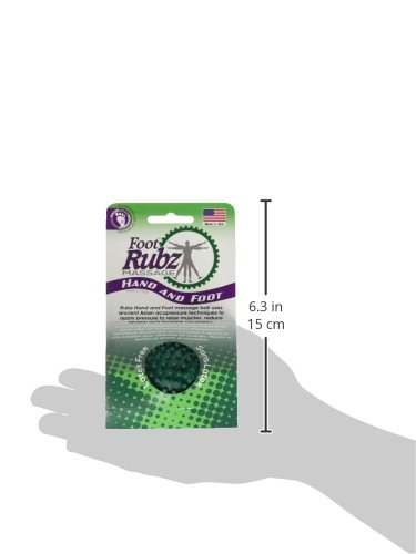 Due North Foot Rubz Foot Hand and Back Massage Ball, Relief from Plantar Fasciitus, Green - incensecentral.us