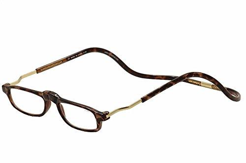 Clic Reader Eyeglasses XXL Tortoise/Gold Full Rim Magnetic Reading Glasses - Xxl Eyeglasses