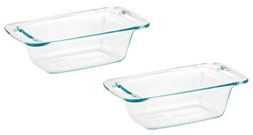 (World Kitchen 1085799 Pyrex Easy Grab Loaf Dish, Pack of 2 Dishes)