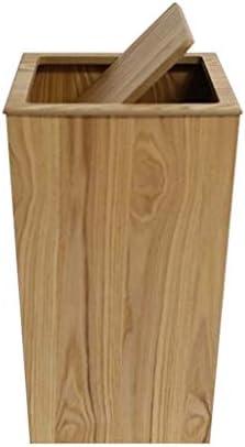 滑らかな表面 木製ごみ箱、カフェバーレストラン装飾室内ゴミ箱バスルームオフィス古紙のバスケット リサイクル可能なデザイン (Color : A, Size : 23*23*40CM)