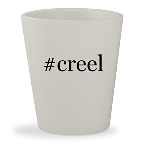#creel - White Hashtag Ceramic 1.5oz Shot Glass (Creel Wicker Antique Fishing)
