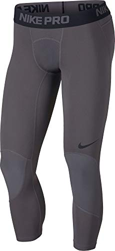 Nike Pro Dri-FIT Men's 3/4 Basketball Tights (Dark Grey/Black, - Quarter Three Nike Pant