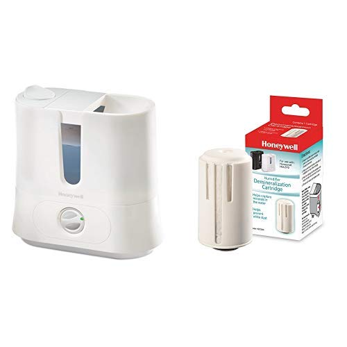 Honeywell Easy to Care Removable Top Fill Ultrasonic Cool Mist Humidifier, White with  Demineralization Cartridge, Multi