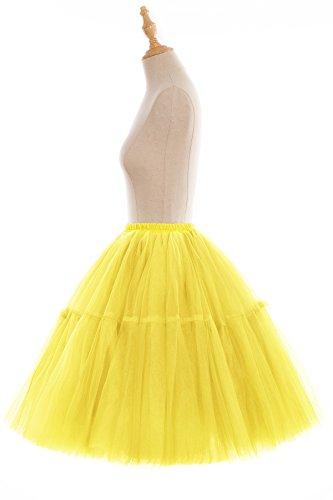 Babyonline Tutú a la rodilla para mujer (tul, enaguas) amarillo