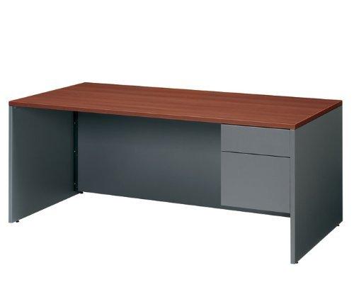 Adaptabilities Single Pedestal Desk, Right Pedestal, Honey (GLBA3672SPRAWH) Category: Wood Desks