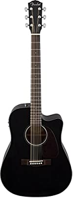 Fender CD-140SCE Dreadnought Acoustic Electric Guitar-Black from Fender Acoustic Guitars