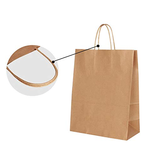 Brown 45.0 x 48.0 x 14.0 cm AKAR Extra Large Size Carrier Bags with Twisted Handles Pack 20