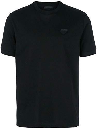 (Prada Men's Ujn452xgsf0002 Black Cotton T-Shirt)