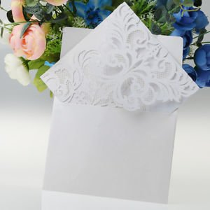 10pcs white laser cut hollow flower invitation cards wedding party 10pcs white laser cut hollow flower invitation cards wedding party cards stopboris Image collections