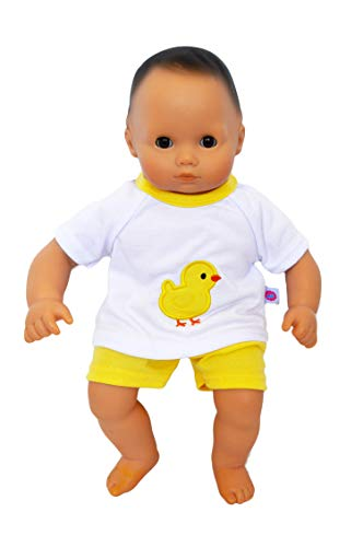 Brittany's Yellow Chick Shorts Set Compatible with Bitty Baby Dolls