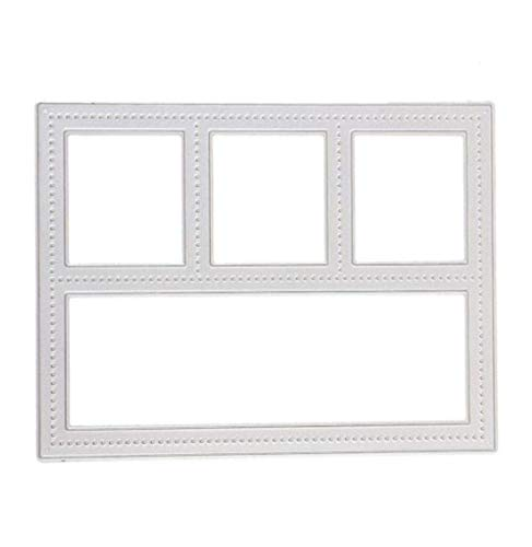 Card Craft Templates (Mvchif Cutting Dies Metal Stencils Scrapbooking Tool DIY Craft Carbon Steel Embossing Template for Paper Card Making (Rectangle Window))
