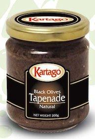 Kartago Antipasta Black Olives Tapenade 7.05 Oz (4 Jars Per Pack) by Kartago
