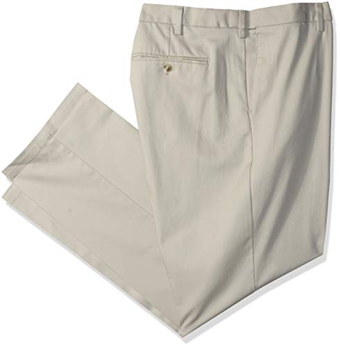 Dockers Men's Big and Tall Classic Fit Signature Khaki Lux Cotton Stretch Pants, Cloud, 48 29 ()