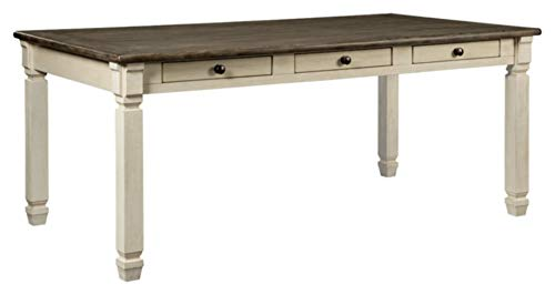 Ashley Furniture Signature Design - Bolanburg Dining Room Table - Antique White (And White Room Dining Black Ideas)