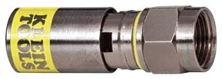 Klein Tools Vdv812 612 Universal Compression Connector   Rg6 6Q  Male  50 Pack