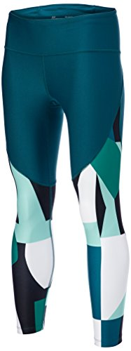 Under Armour Women's Balance Printed Crop Pants, Tourmaline Teal (716)/Metallic Iron, X-Small
