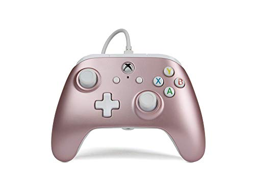 BD&A Power A Enhanced Wired Controller for Xbox one & Windows 10 - Rose Gold (Best Cooperative Games Xbox One)