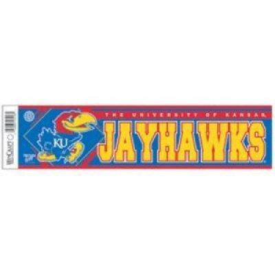 Kansas Jayhawks Bumper Sticker (Bumper Sticker Jayhawks Kansas)