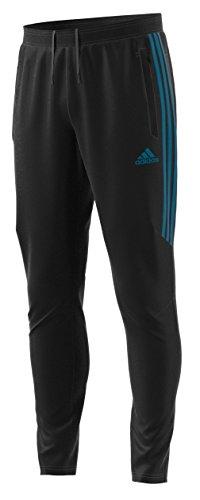 adidas Men's Soccer Tiro 17 Pants, Large, Black/Mystery Petrol