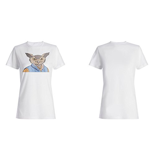 Eule im menschlichen Körper Neuheit Lustig Damen T-shirt a825f