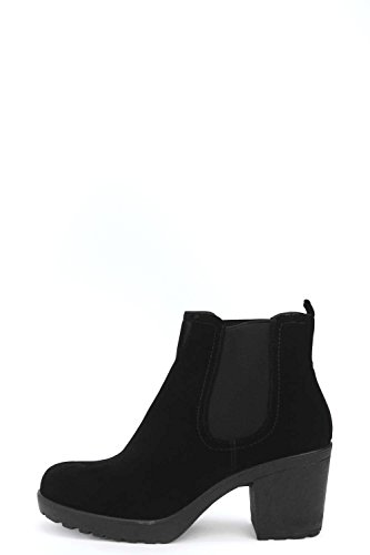Schwarz Damen Madison Block Heel Suedette Chelsea Boot - 8