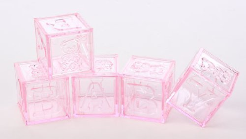 (Adorable Baby Girl Pink Acrylic Alphabet Fillable Baby Blocks- For Showers, Decorating and More- 24 Total Blocks by Unknown)