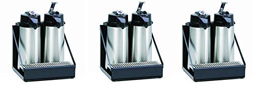 Wilbur Curtis 2 Position Airpot Rack - Compact Design with Integral Drip Tray - CAR-2-BLK (Each) (3-(Pack)) by Wilbur Curtis (Image #1)
