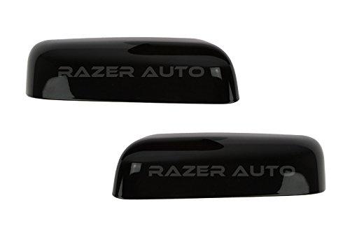 Razer Auto Top Half Mirror Cover (Glossy Black ABS plastic material) for 09-14 Ford (Ford F150 Putco Tailgate)
