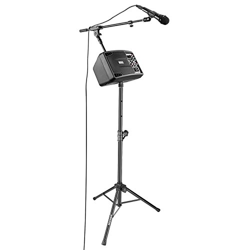 Monitor Karaoke System (Neewer Party Bundle Home Karaoke System - Stereo Speaker Monitor, Floor Stand, Cardioid Dynamic Microphone with Mic Clip and XLR Male to Female Cable for Home, Church, Stage Show)