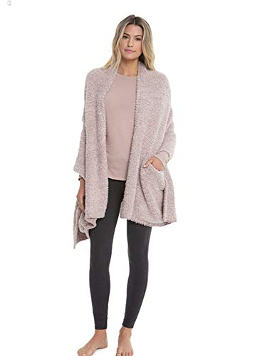 Barefoot Dreams CozyChic Heathered Travel Shawl. Heathered Vintage Rose-Ballet - Wrap Barefoot Dreams