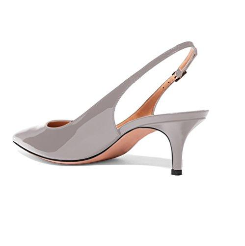 tira 5cm Edefs Gris 6 Tacón Tobillo Mujer zapatos De Zapatos Para Medio 00vqfgwB