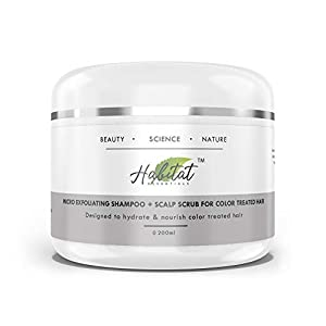 Habitat Essentials Micro Exfoliating Shampoo & scalp scrub with Meadowfoam seed + aloe vera for Color treated hair…