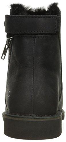 UGG Women's Kayel Leather Winter Boot, Black, 5 US/5 B US