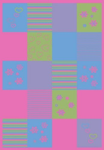 Alisa Patchwork Kids Rug Rug Size: 3'4'' x 5' by Concord Global Trading