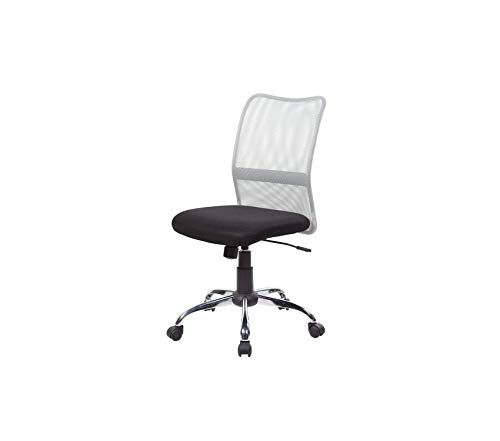 Unitеd Sеаting Modern Ergonomic Mesh Medium Back Executive Computer Desk Task Office Chair, Graphite and Gray Jet Black
